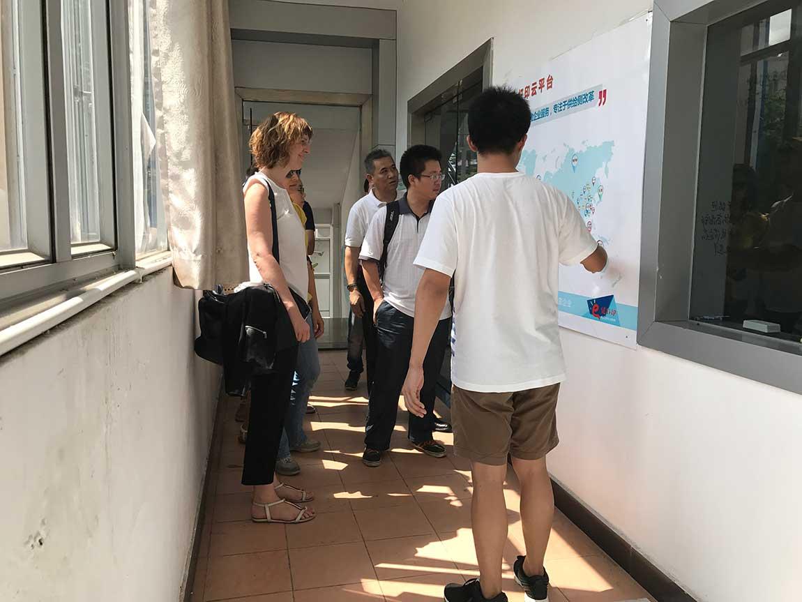 意大利费拉拉大学托马斯教授调研团一行莅临常平科技园参观调研