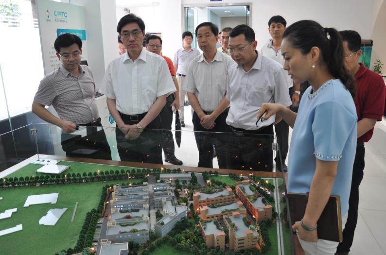 常平镇陈伟国副书记及揭西市市委组织部部长一行莅临常平科技园参观指导