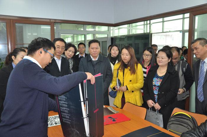 东莞市委常委、宣传部部长潘新潮一行莅临常平科技园参观交流