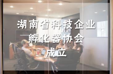 湖南省科技企业孵化器协会成立