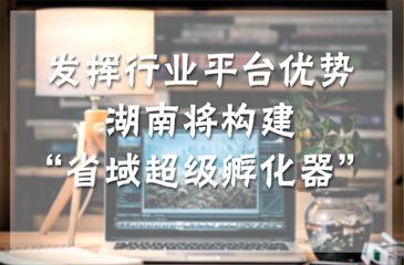 """发挥行业平台优势 湖南将构建""""省域超级孵化器"""""""