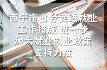 西宁市出台促进就业工作措施 进一步加大就业创业政策支持力度