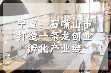 宁夏:石嘴山市打造一条龙创业孵化产业链