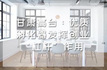"""甘肃高台:优质孵化器发挥创业""""杠杆""""作用"""